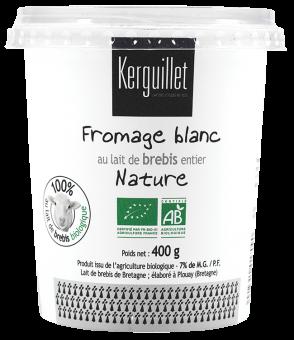 Fromage blanc au lait de brebis BIO, 7 % MG Kerguillet (400 g)
