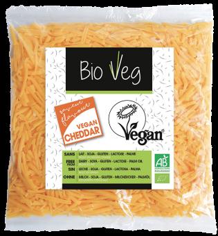 Râpé vegan saveur Cheddar, Bio Veg (150 g)