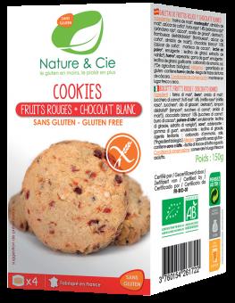 Cookies fruits rouges et chocolat blanc, Nature & Cie (150 g)