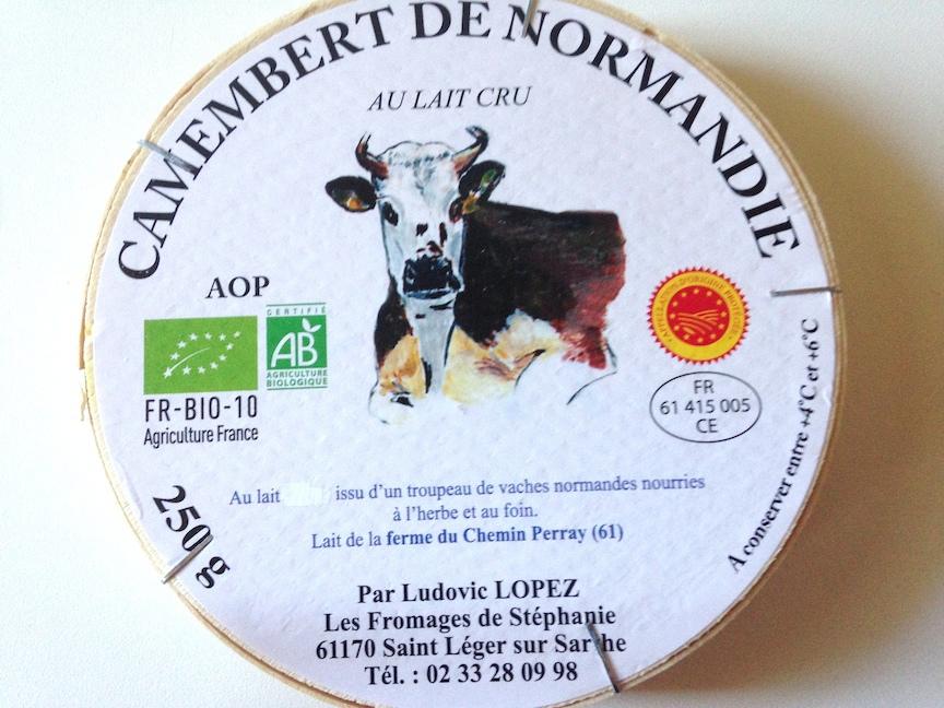 Camembert de Normandie - au lait cru BIO, Fromages Stéphanie