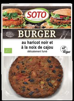 Burger au haricot noir et à la noix de cajou, Soto (x 2, 160 g)