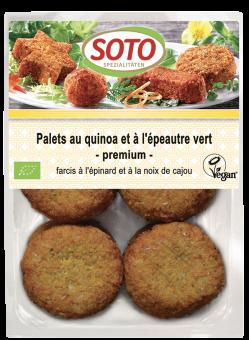 Palets au quinoa et à l'épeautre vert premium, Soto (x 6, 195 g)