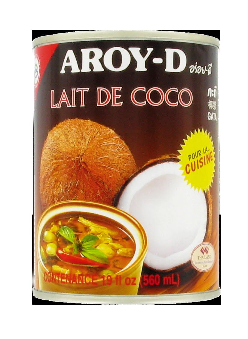 Lait de coco en boite, Aroy-d (560 ml)