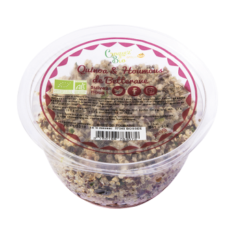 Salade de quinoa et houmos de betterave BIO, Etape Bio (220 g)