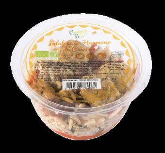 Salade de falafels et houmos de poivron BIO, Etape Bio (220 g)
