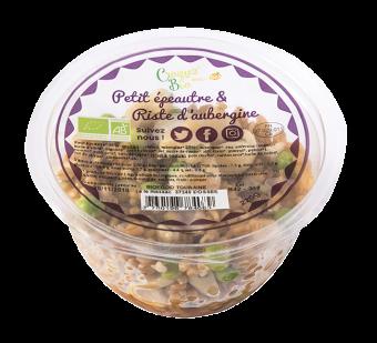 Salade de petit épeautre et riste d'aubergine BIO, Etape Bio (220 g)