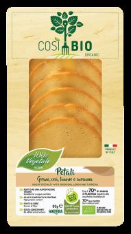Petali, spécialité végétale à base de blé et pois chiche au citron et curcuma BIO, Cosi Bio (80 g)