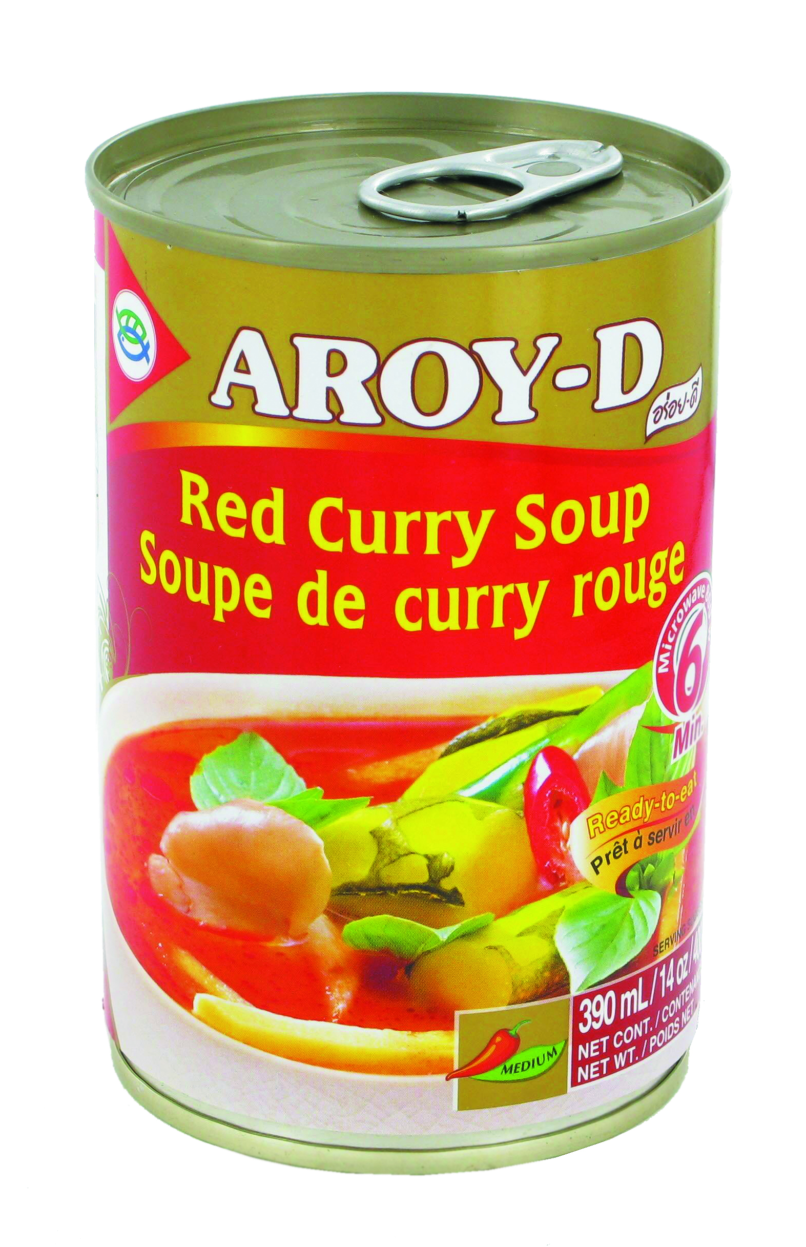 Soupe au curry rouge, Aroy-d (400 g)