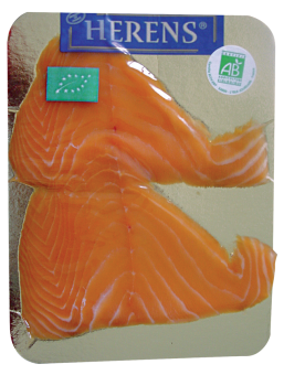 Saumon fumé 2 tranches, Irlande ou Ecosse selon arrivage, Herens (80 g)
