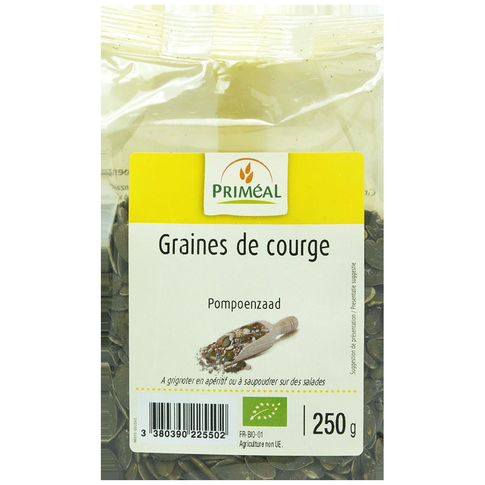 Graines de courge BIO, Priméal (250 g)