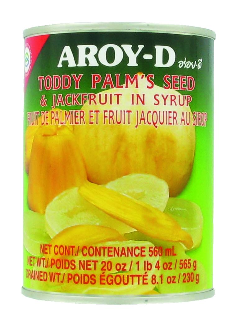Fruits du palmier et fruits du jacquier au sirop, Aroy-d (565 g)