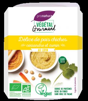 Délice de pois chiches, coriandre et cumin, au lupin, Végétal Gourmand (150 g)