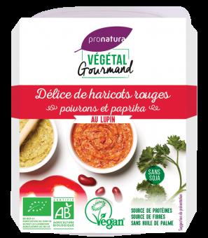 Délice de haricots rouges, poivrons et paprika, au lupin, Végétal Gourmand (150 g)