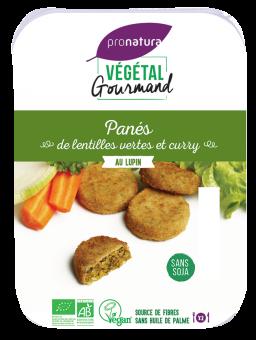 Panés de lentilles vertes et curry, au lupin, Végétal Gourmand (x 6, 180 g)