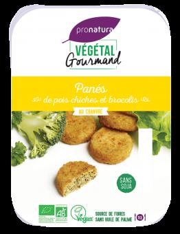 Panés de pois chiches et brocolis, au chanvre, Végétal Gourmand (x 6, 180 g)