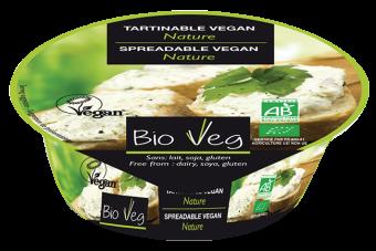 Spécialité végétalienne à tartiner nature, Bio Veg (125 g)