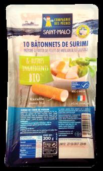 Bâtonnet de surimi, Cie des pêches de Saint Malo (200 g)