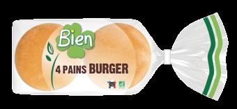 Pain burger BIO, Bien Panification (x 4, 200 g)