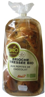 Brioche tressée aux pépites de chocolat BIO, Brio (300 g)