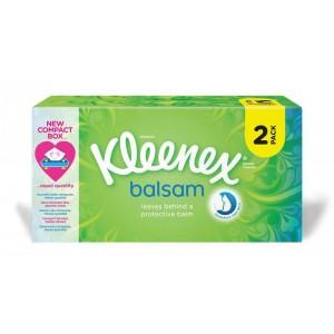 Boite de mouchoirs balsam, Kleenex LOT DE 2 (2 x 80)