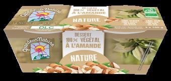 Dessert végétal amande nature BIO, Grandeur Nature (x 2, 200 g)