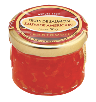 Oeufs de saumon sauvage américain, Barthouil (50 g)