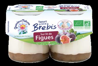 Yaourt au lait de brebis sur lit de figues BIO, Grandeur Nature (2 x 125 g)