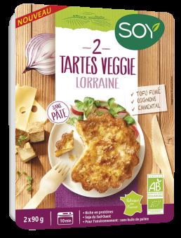Tarte veggie lorraine BIO, Soy (x 2, 180 g)