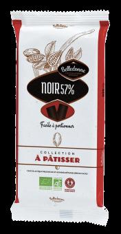 Chocolat noir 57 % à pâtisser BIO, Belledonne (175 g)