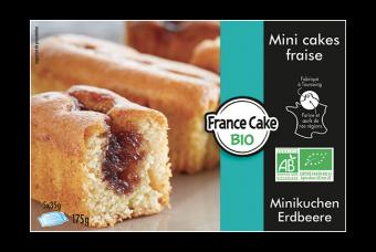 Mini cakes fourrés fraise BIO, France Cake Tradition (175 g)