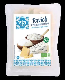 Ravioli 4 fromages italiens BIO, Via bio (250 g)