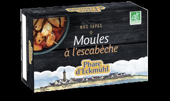 Moules à l'escabèche, en boîte 1/6, Phare d'Eckmuhl (111 g)