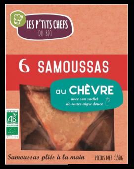 Samoussa au chèvre BIO, Les P'tits Chefs du Bio (x 6, 160 g)