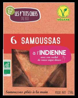 Samoussa à l'indienne BIO, Les P'tits Chefs du Bio (x 6, 160 g)