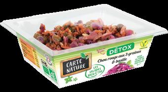 Chou rouge aux 3 graines et basilic Détox BIO, Carte Nature (160 g)