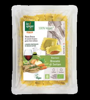 Ravioli au seitan braisé, La Spiga Bio (250 g)