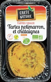 Tartes potimarron et châtaignes BIO, Carte Nature (x 2, 230 g)
