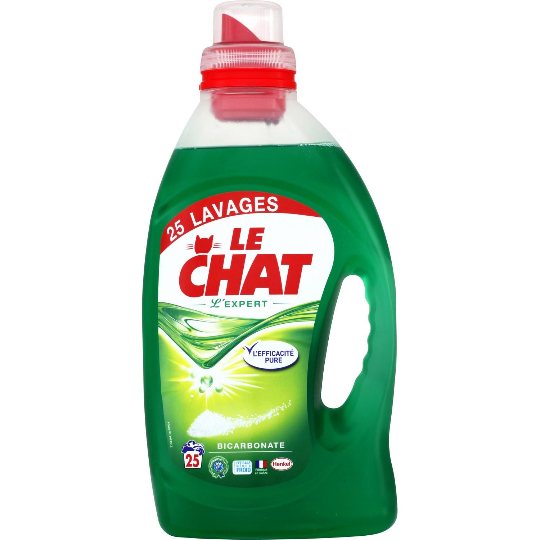 Lessive liquide l'expert au bicarbonate, Le Chat (1.25 L)