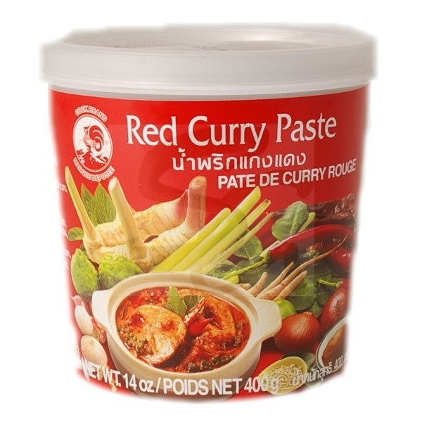 Pâte de curry rouge Cock (400 g)