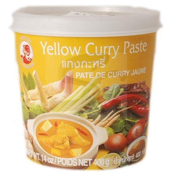 Pâte de curry jaune Cock (400 g)