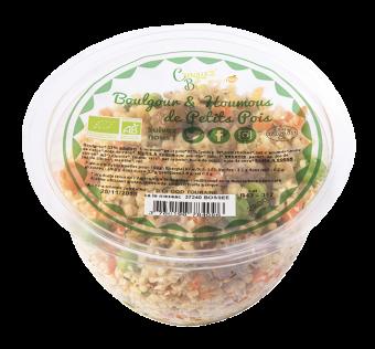 Salade boulgour et houmous petits pois menthe BIO, Etape Bio (220 g)