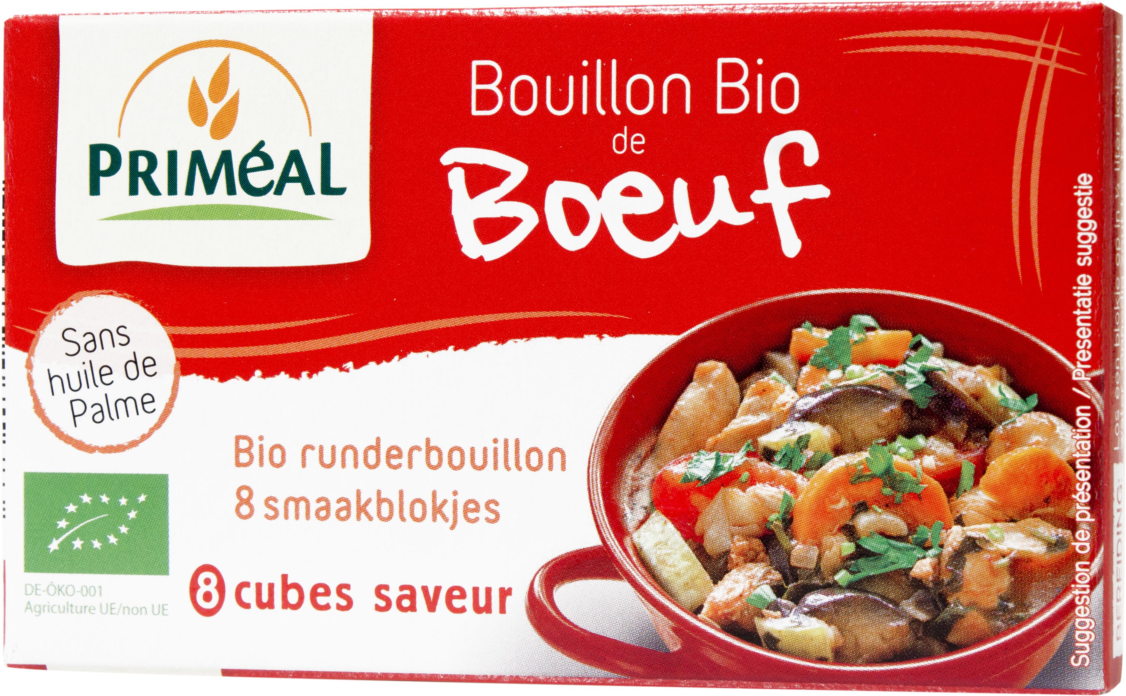Bouillon de bœuf BIO, Priméal (80 g)