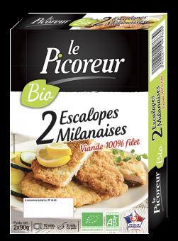 Escalope de volaille milanaise BIO, Le Picoreur (x 2, 180 g)
