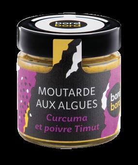 Moutarde aux algues, curcuma et poivre Timut BIO, Bord à bord (140 g)