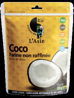 Farine de coco non raffinée BIO, Autour du Riz l'Asie (200 g)