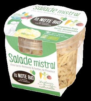 Salade mistral, chou lacto-fermenté et herbes de Provence BIO, La Note Bio (180 g)