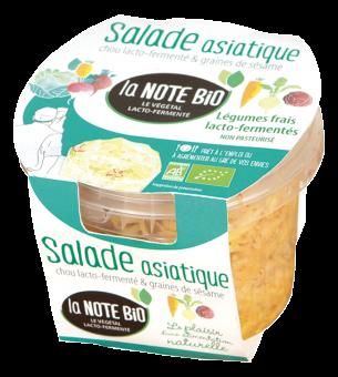 Salade asiatique, chou lacto-fermenté et graines de sésame BIO, La Note Bio (180 g)