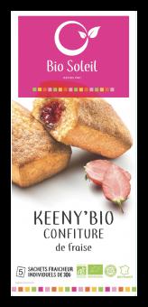 Keeny'Bio fourrés à la confiture de fraise BIO, Bio Soleil (150 g)