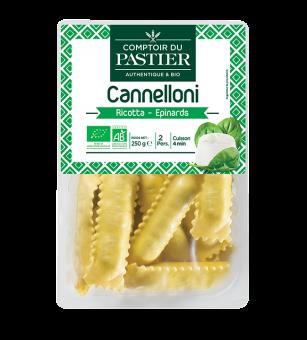 Cannelloni ricotta épinards BIO, Comptoir du Pastier (250 g)