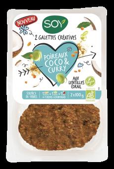 Galettes créatives poireaux coco et curry, Soy (200 g)